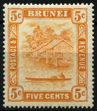 Mint Hinged Postage Bruneian Stamps