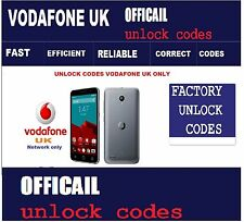 Vodafone UK Vodafone Smart platinum 7 Unlock Codes Vodafone UK only