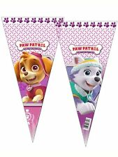 12 Girls Paw Patrol Sweet Cones Party Cello Bags Kids Childrens Birthday Favours