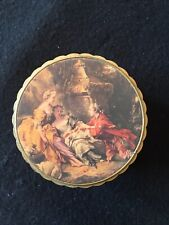 SET OF 6 GOLD HAND PAINTED FLORENTINE TOLE COASTERS GOLD ITALY HOLLYWOOD REGENCY