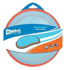 2pk Chuckit!-Paraflight Flyer-Dog Puppy Flydisc Floats, Long Time Play
