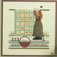 Summer Quilt Counted Cross Stitch Pattern Chart from a magazine girl with quilt