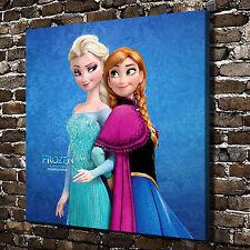 Disney Frozen Elsa Anna HD Canvas Print Paintings Home Decor Wall Art Pictures