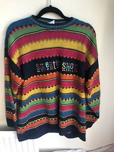 Funky Multicoloured Sweater Shop Jumper Size M