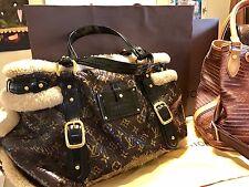 Authentic Louis Vuitton Thunder Shearling Monogram Brown Tote Handbag