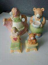 Goldilocks and The Three Bears Ceramic Creamer, Sugar, Salt & Pepper Sharkers