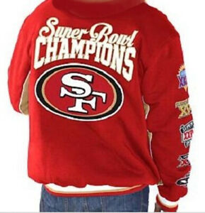 NFL San Francisco 49ERS Classic Commemorative Super Bowl Jacket by Glll ~LARGE
