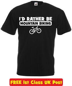Rather Be Mountain Biking t shirt funny mens son dad mum birthday xmas gift