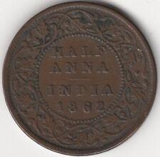 1862 British India Victoria Half Anna Coin | Pennies2Pounds