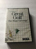 Great Golf Sega Master System No Manual 1987 Tested & Working
