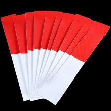 16x Car Trucks Forklifts Vans Strips Red and White Safety Warning Decal Sticker