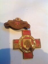Proficiency in Red Cross First Aid Vintage Badge and Medal Red Cross Society