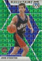 2019-20 Panini Mosaic Hall of Fame Green Prizm John Stockton #293 HOF Utah Jazz