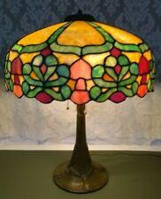 New listing Mosaic Leaded Glass Lamp c 1910 - Handel Tiffany arts crafts Duffner slag era