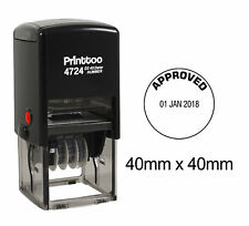 Printtoo-Büro-Briefpapier-runder Dater-Stempel-Selbsttönung mit Text-PR4724-104