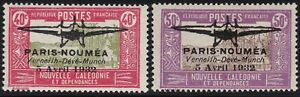 1932 New Caledonia/Nouvelle Caledonie, Yvert A 1/2 Mlh