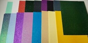 Glitter Card - 30 sheets -  Mixed Colours