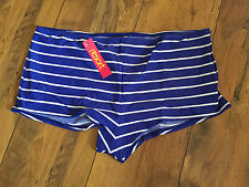 Blue Nautical Stripe swim shorts - PLUS SIZE 20-22 - BNWT - beach/swim -FREE P&P