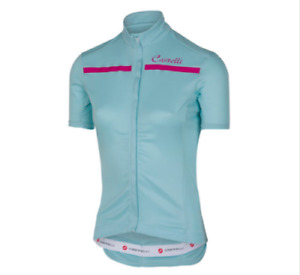 Castelli Women's Imprevisto Short Sleeve Jersey Blue/Pink Size Small Cycling New
