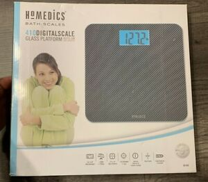 Homedics 410 Digital Scale Glass Platform Auto On 400 lb Capacity