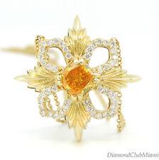 Estate 1.55Ct Diamond & Yellow Diamond  18K Gold Pendant Necklace