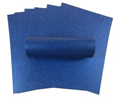 10 SHEETS A4 YALE BLUE SPARKLE CARD QUALITY 300GSM IDEAL FOR CRAFTS