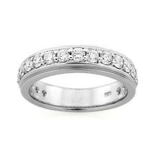 9ct White Gold Diamond Band Ring.