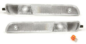 fits 1997-1999 Saturn S-Series SC1 SC2 Clear Front Side Park Lights PAIR