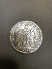 More details for 1876 french silver 5 franc coin.