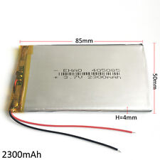 3.7V 2300mAh LiPo Polymer Rechargeable Battery For Mobile phone powerbank 405085