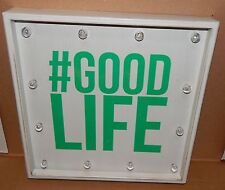"Metal LED Sign # Good Life Switch Operate 12ea Lights 13"" x 13"" Batteries 78O"