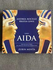 Verdi Aida (2CD SET, VG CONDITION, Andrea Bocelli, Kristin Lewis, Decca, 2016)