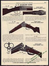 1940 A.F. STOEGER 295 Double Barrel & 290 O/U Rifle, 4 Barrel Combination Gun AD