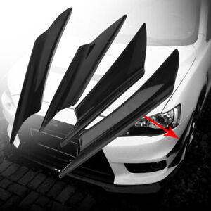 4x Car Black Front Bumper Canards Splitter Fins Body Spoiler Universal for Audi