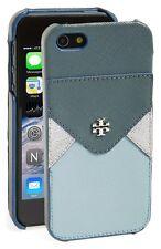 Used Tory Burch Robinson Metallic hardshell Iphone case 5/5S Fountain (4498)