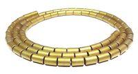 😏 Hämatit matt goldene Walzen Röhrchen 8x4 & 5x3 mm Perlen Strang hematite 😉