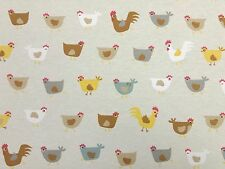 Novelty Chickens Designer Curtain Upholstery Craft Patchwork Fabric