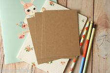 KRAFT marrone CARTOLINE 20pc Eco Friendly riciclato Plain fai da te fai da te le carte in bianco