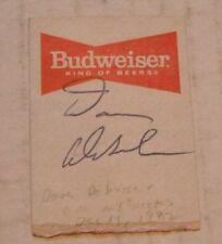 Autograph--Dave DeBusschere...circa 1982...Former Knick Player