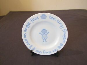 UNUSED MOTHERCARE CERAMIC PLATE TEN TINY FINGERS, TEN TINY TOES  & AN ANGEL FACE