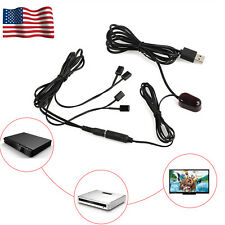 IR Extender 1 Receiver 4  Emitters Repeater Kit Infrared Remote Hidden US