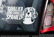 Cavalier King Charles Spaniel - Car Window Sticker - Dog on Board Sign - TYP2