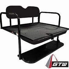 EZGO TXT Black 2-N-1 Golf Cart Rear Flip Seat NO WOOD EASIEST INSTALL EZ-GO