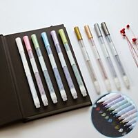 10 Colors Basis Farbig Marker Pen Set Marqueurs D'art Aquarellstift Metallisch