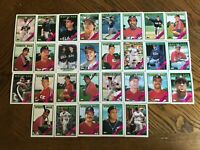 1988 CHICAGO WHITE SOX Topps COMPLETE Baseball Team SET 29 Cards FISK BAINES!