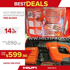 HILTI WSR 650-A RECIPROCATING SAW, EXCELLENT CONDITION,FREE BLADE SET, FAST SHIP