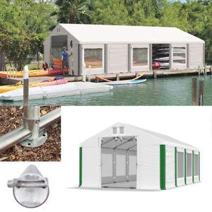 Gartenpavillon 4x4 - 6x12m Partyzelt Lagerzelt Moskitonetz Wasserdicht 2in1 NEU!