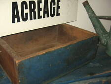 WONDERFUL ANTIQUE PRIMITIVE BOX AWESOME OLD BLUE PAINT AAFA NR