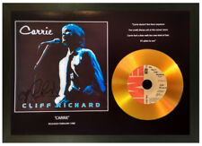 CLIFF RICHARD 'CARRIE' SIGNED PHOTO GOLD CD DISC MEMORABILIA COLLECTABLE GIFT