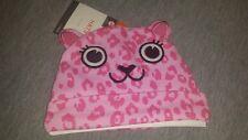 Nwt Halloween Hat 0-6 M Pink Cat Leopard Print Baby Infant Unisex Beanie New